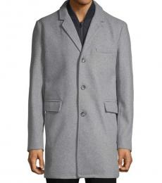 Michael Kors Stone Heather Classic Heathered Coat