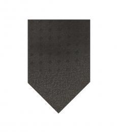 Black Shimmer Square Pattern Tie