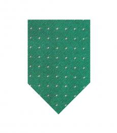 Green Small Polka Dot Tie