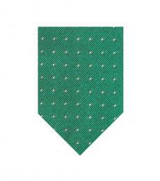 Ralph Lauren Green Small Polka Dot Tie