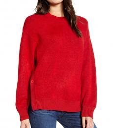 Red Crew Neck Rae Sweater