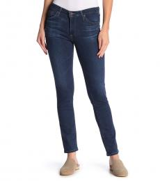 AG Adriano Goldschmied Blue Mid Rise Slim Jeans
