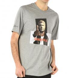 Neil Barrett Grey Graphic Printed T-Shirt
