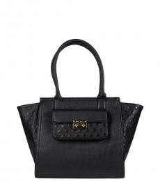 Betsey Johnson Black XO Large Satchel