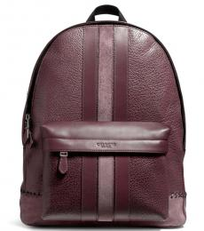 Coach Oxblood Stitch Charles Large Backpack