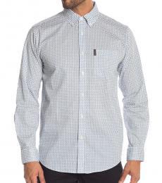 Ben Sherman Light Grey Multi Geo Print Union Fit Shirt