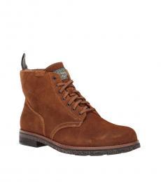 Ralph Lauren Brown Army Boots
