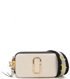 Marc Jacobs White Silver Snapshot Small Crossbody