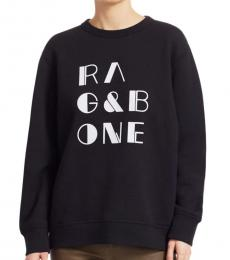 Rag And Bone Black Logo Sweatshirt