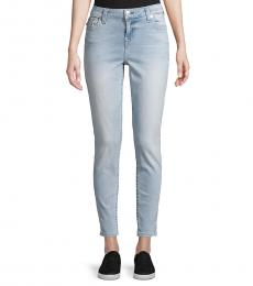 Blue Logo Stretch Jeans