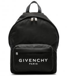 Givenchy Black Logo Large Backpack