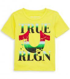 True Religion Little Boys Yellow Horseshoe Logo T-Shirt