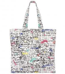 DKNY White Multi Cally Large Tote