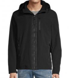 Calvin Klein Black Fur-Lined Hooded Jacket