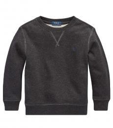 Ralph Lauren Little Boys Dark Sport Heather Cotton-Blend-Fleece Sweatshirt