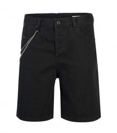 Diesel Black Side Chained Shorts