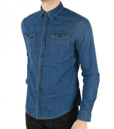 Armani Jeans Blue Denim Shirt