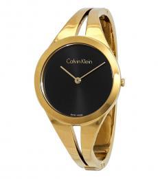 Calvin Klein Gold Addict Black Dial Watch