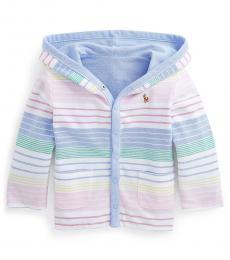 Ralph Lauren Baby Boys Striped Reversible Hooded Jacket
