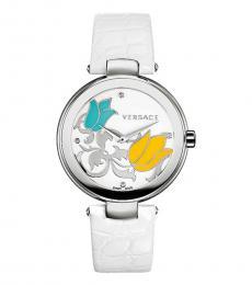 Versace White Mystique Floral Watch