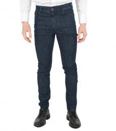 Dark Blue Stretch Skinny Fit Jeans