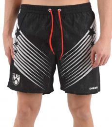 Diesel Black Printed Wave Swimwear