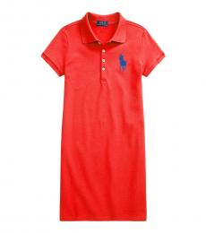 Ralph Lauren Girls Bright Hibiscus Big Pony Dress