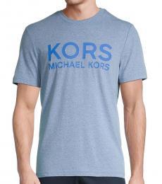 Michael Kors Blue Jaspe Logo T-Shirt