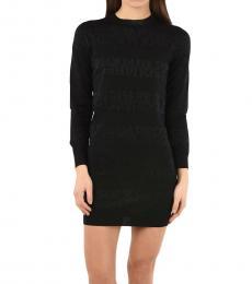 Dsquared2 Black Knit Mini Bodycon Dress