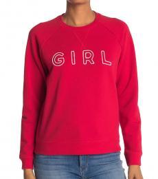 True Red Raglan Sweatshirt