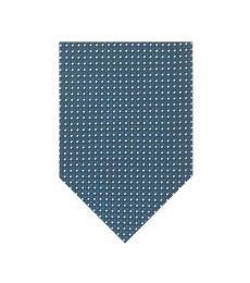 Tom Ford Blue Geometric Pattern Tie