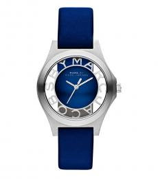Marc Jacobs Blue Henry Skeleton Watch