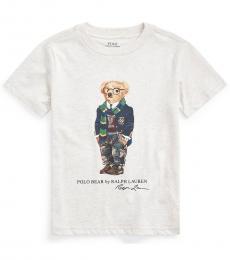 Ralph Lauren  Little Boys American Heather Rugby Bear T-Shirt
