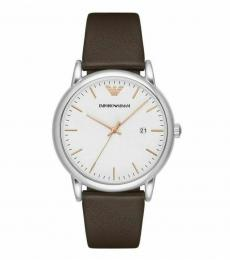 Emporio Armani Brown White Dial Watch