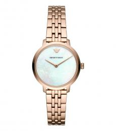 Emporio Armani Rose Gold White Dial Watch