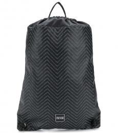 Versace Jeans Black Printed  Large Backpack