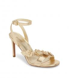 Michael Kors Gold Tricia Leather Heels
