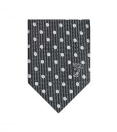 Versace Grey Embroidered Tie