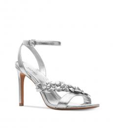 Michael Kors Silver Tricia Leather Heels