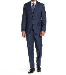 Ralph Lauren Dark Blue Sharkskin 2-Piece Suit