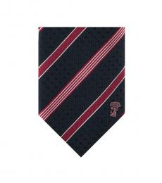 Versace Navy Red Striped Tie
