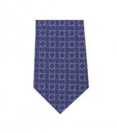 Michael Kors Blue Streamline Geo Slim Silk Tie