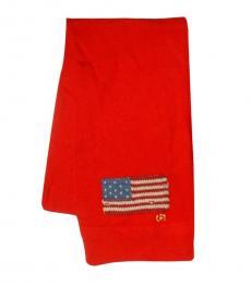 Red Merino Wool Scarf