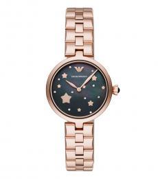 Emporio Armani Rose Gold Logo Star Watch