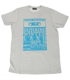 Boys Light Grey Graphic T-Shirt