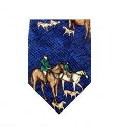 Dolce & Gabbana Blue Dapper Horse Print Tie
