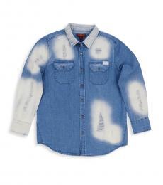 Girls Blue Denim Shirt