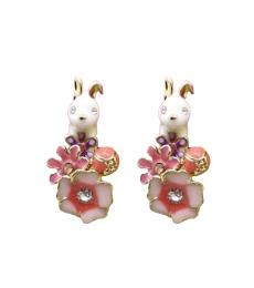 White Bunny Decorative Earrings