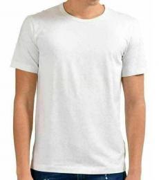 White Crewneck Casual T-Shirt