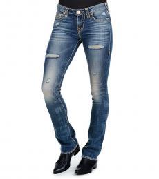 True Religion Blue Billie Super Straight Jeans